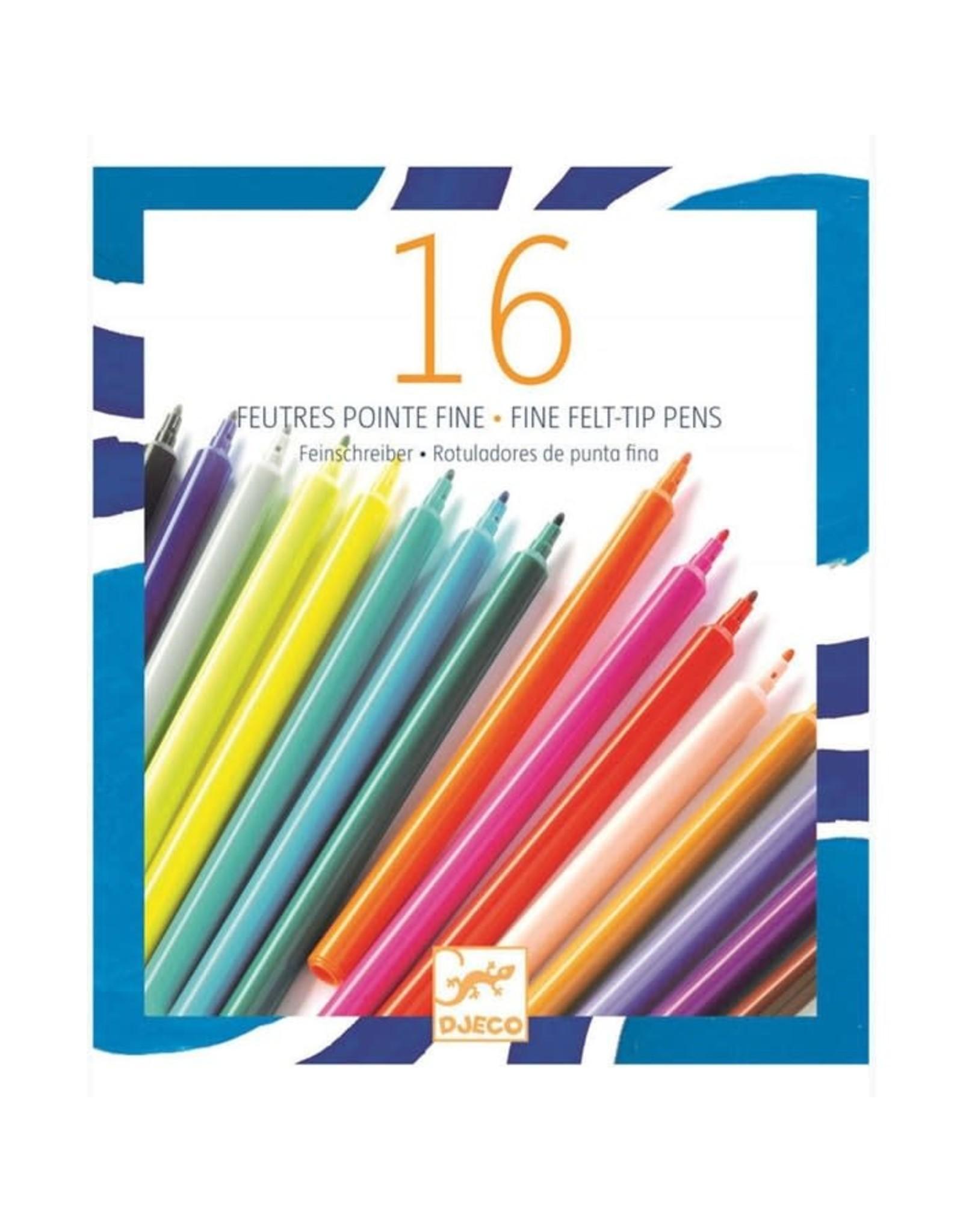 Djeco 16 Thin Markers