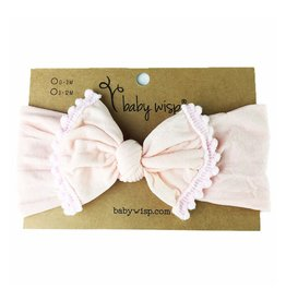 Baby Wisp Baby Wisp Pom Pom Headband, Pale Pink