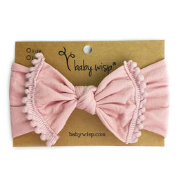 Baby Wisp Baby Wisp Pom Pom Headband, Dusty Rose