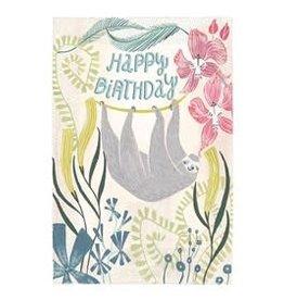 Thomas Allen & Son Sloth Happy Birthday Card