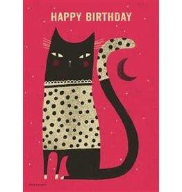 Thomas Allen & Son Night Cat Birthday Card