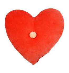 Meri Meri Velvet Heart Cushion, Coral Pink