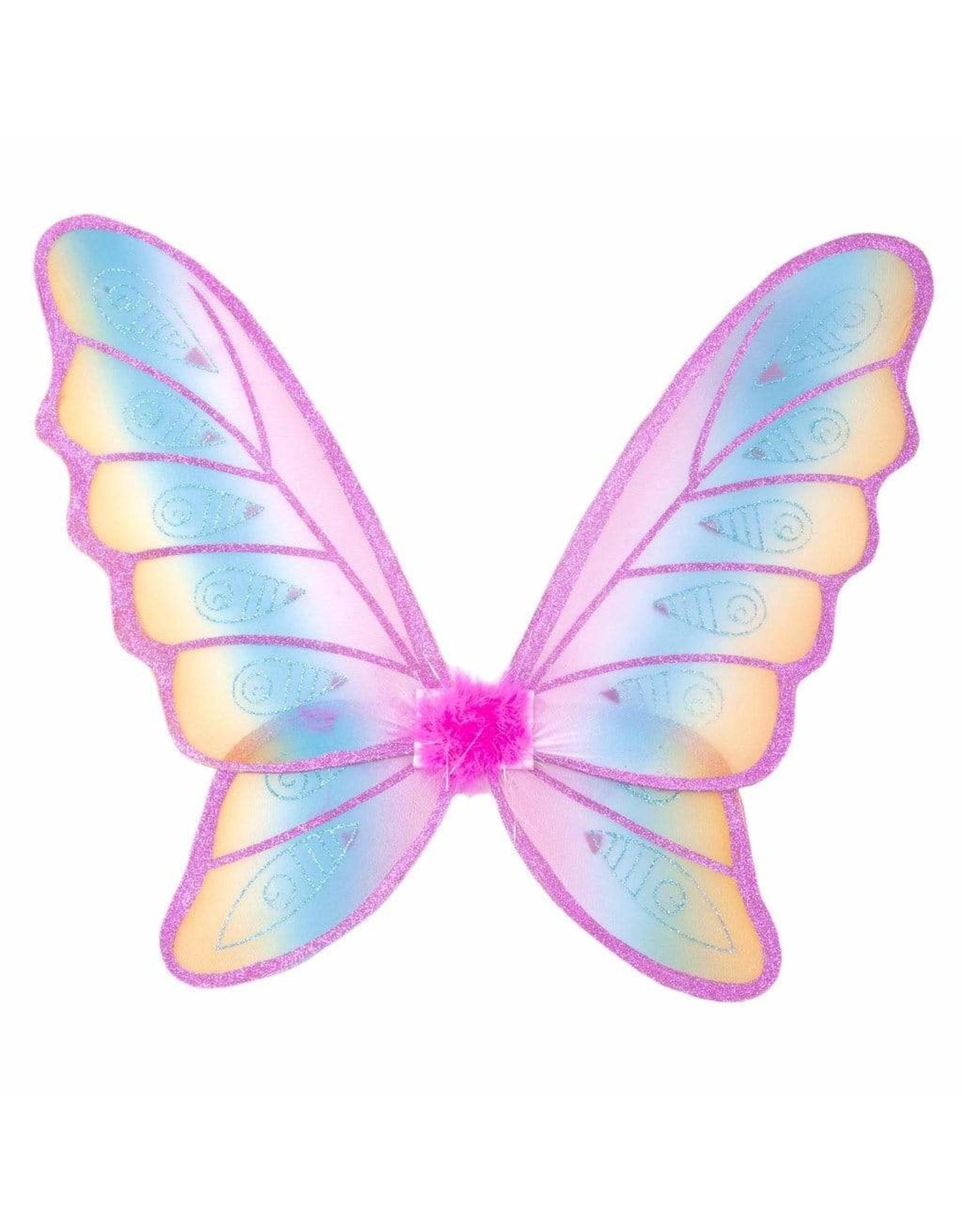 Great Pretenders Glitter Rainbow Wings, Multi/Fuchsia