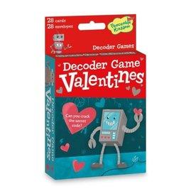 Peaceable Kingdom Robot Decoder Valentines Cards