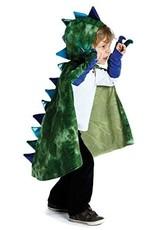 Great Pretenders Dragon Cape w/ Claws Green/Blue, 5-6