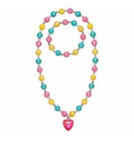 Great Pretenders Happy Heart  Necklace & Bracelet Set