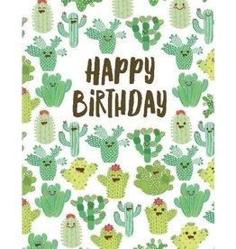 Yellow Bird Paper Greetings Multi Cactus Birthday