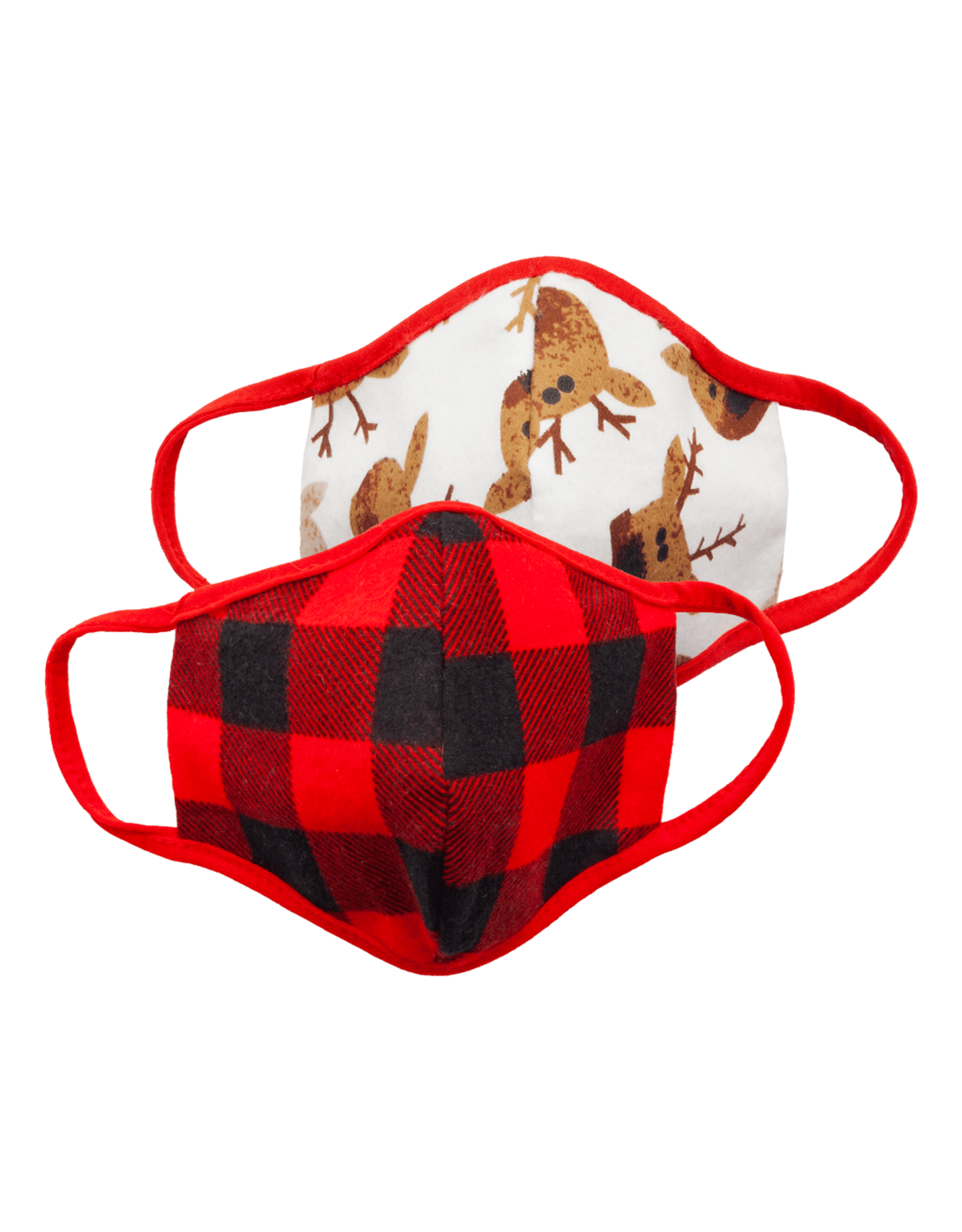 Great Pretenders Baby Moose & Buffalo Plaid Mask Set, 2 pcs.