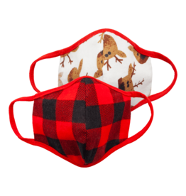 Great Pretenders Baby Moose & Buffalo Plaid Mask Set, 2 pcs.