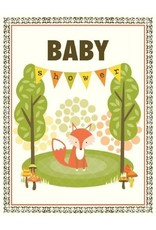 Yellow Bird Paper Greetings Fox Shower Baby Card
