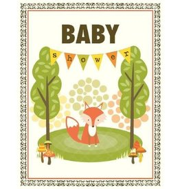 Yellow Bird Paper Greetings Fox Shower Baby Card