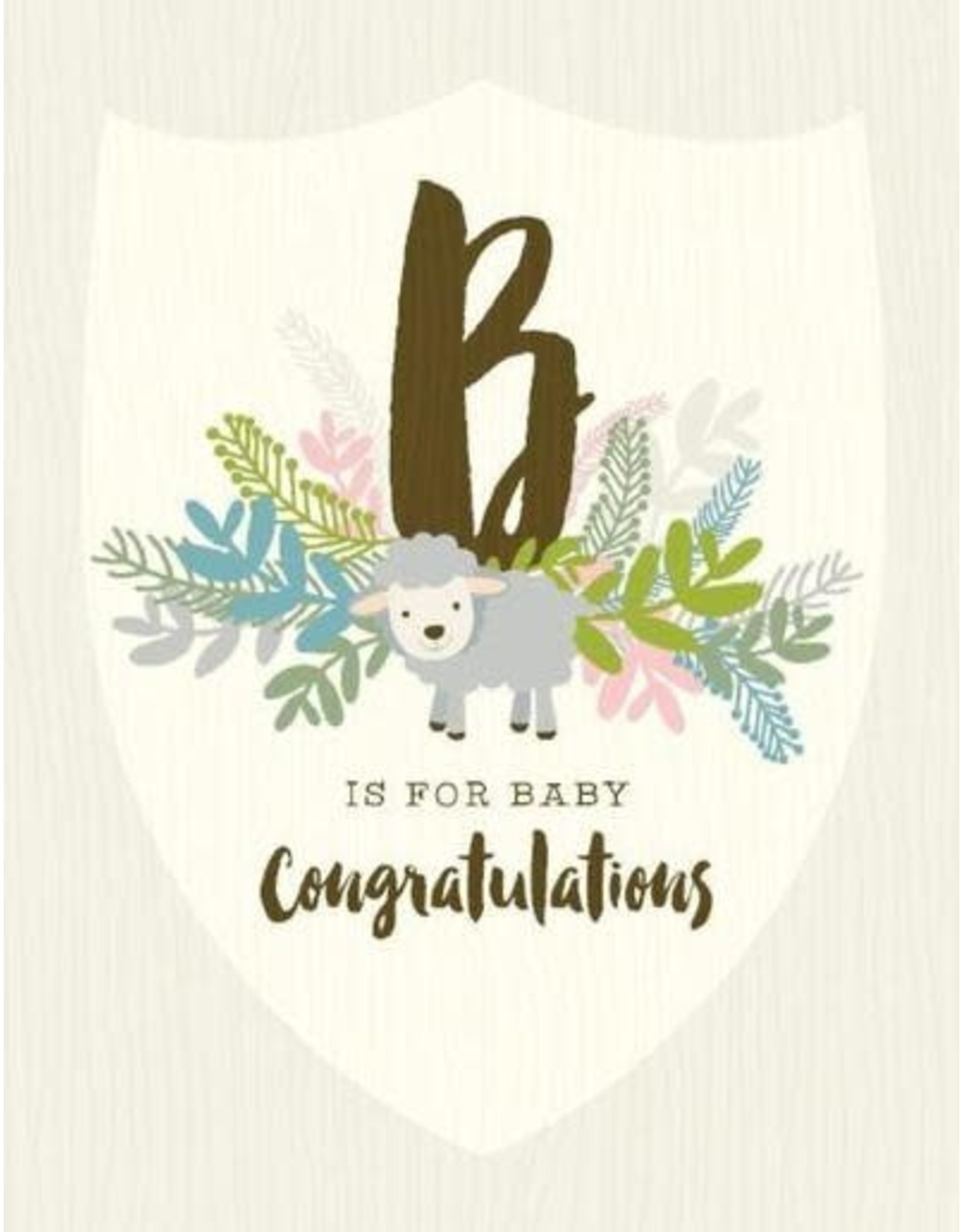 Yellow Bird Paper Greetings B For Baby Posey Card