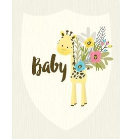 Yellow Bird Paper Greetings Giraffe Baby Card
