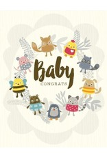 Yellow Bird Paper Greetings Critters Baby Card