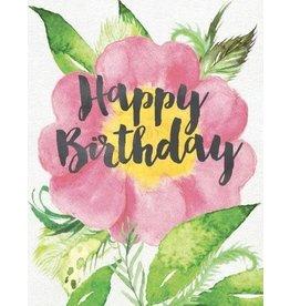 Yellow Bird Paper Greetings Verve Rose Birthday Card