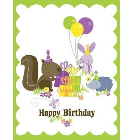 Yellow Bird Paper Greetings Animals Glitter Card