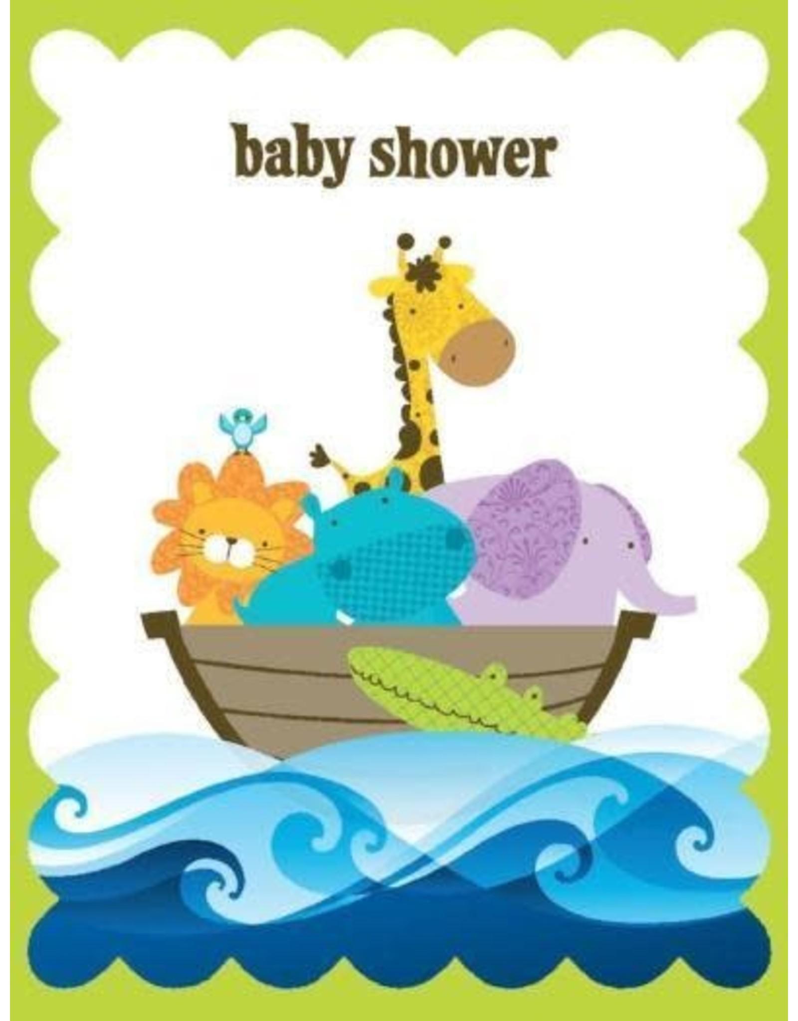 Yellow Bird Paper Greetings Ark Baby Glitter Card