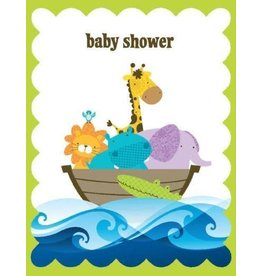 Yellow Bird Paper Greetings Ark Baby Glitter Card