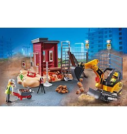 Playmobil Mini Excavator with Building Section