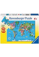Ravensburger 60 pcs. World Map Puzzle