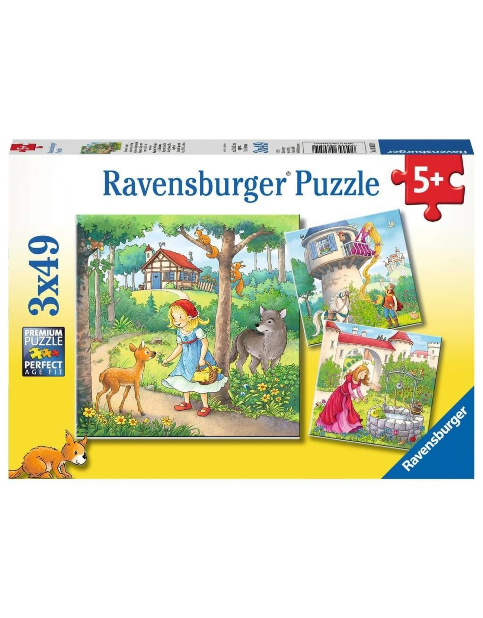 Ravensburger 3x49 pcs. Rapunzel, Red Riding Hood, Frog King Puzzle