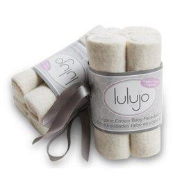 Lulujo Baby Lulujo Organic Cotton Facecloths, 4 pack