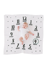 Pearhead Watch me Grow Photo Blankets White/Black Feathers