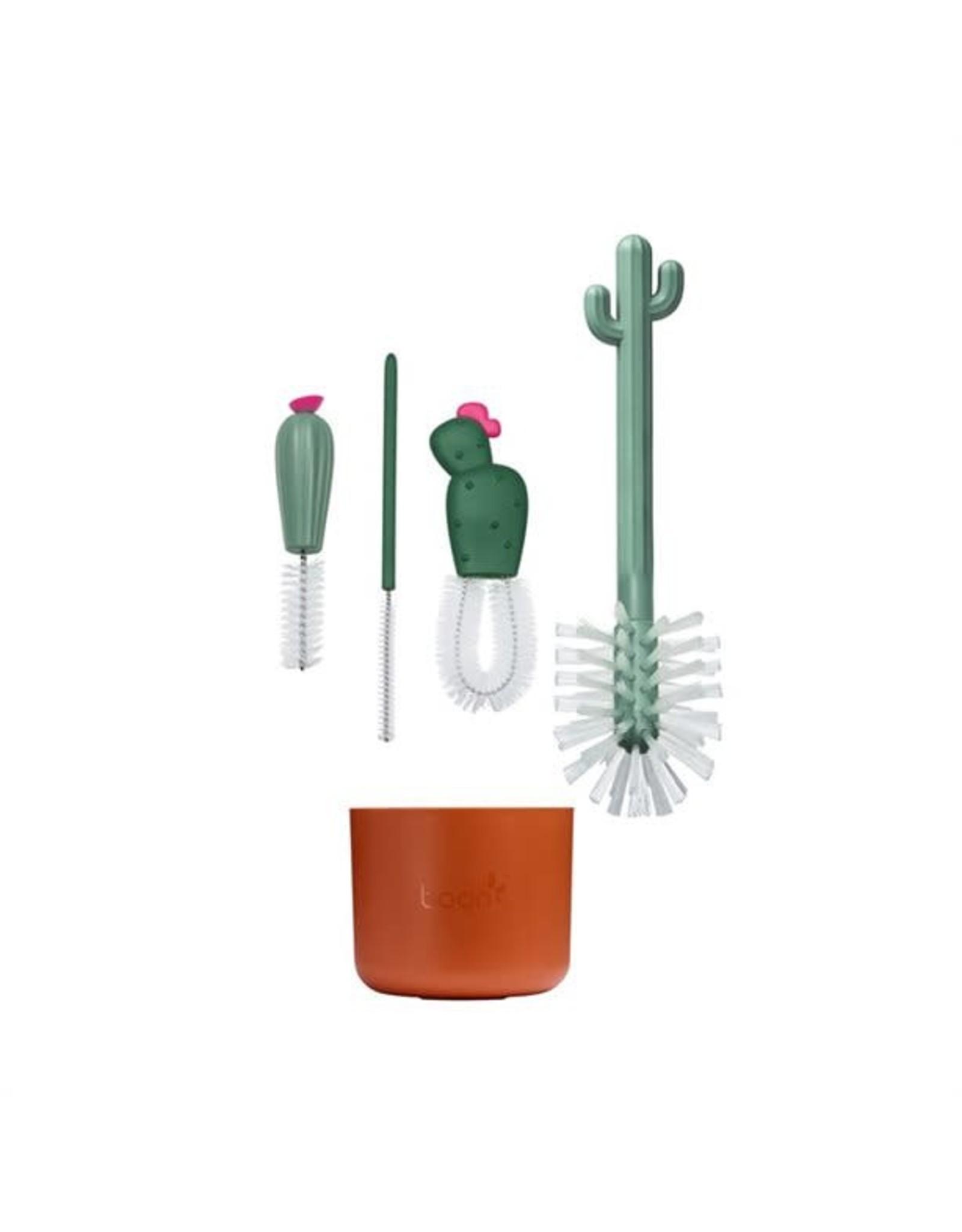 Boon Cacti Brush Set Brown/Dark Green