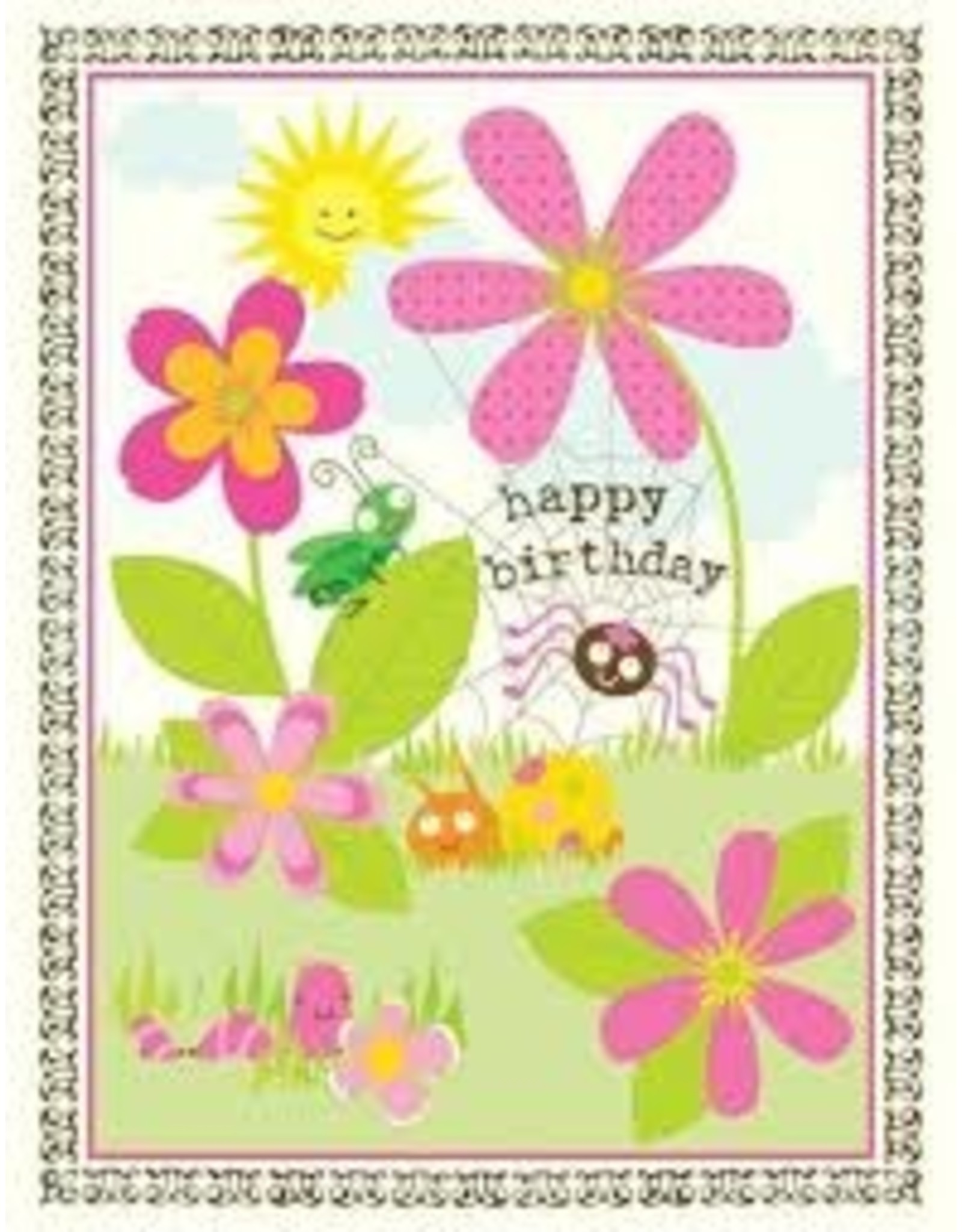 Yellow Bird Paper Greetings Garden Critters Birthday Card