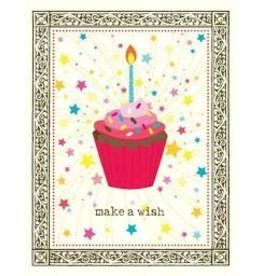 Yellow Bird Paper Greetings Single Cupcake Birthday Card