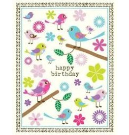 Yellow Bird Paper Greetings Tweet Birds Birthday Card