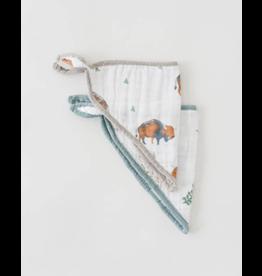 Little Unicorn, LLC Cotton Muslin Bandana Bib, Bison