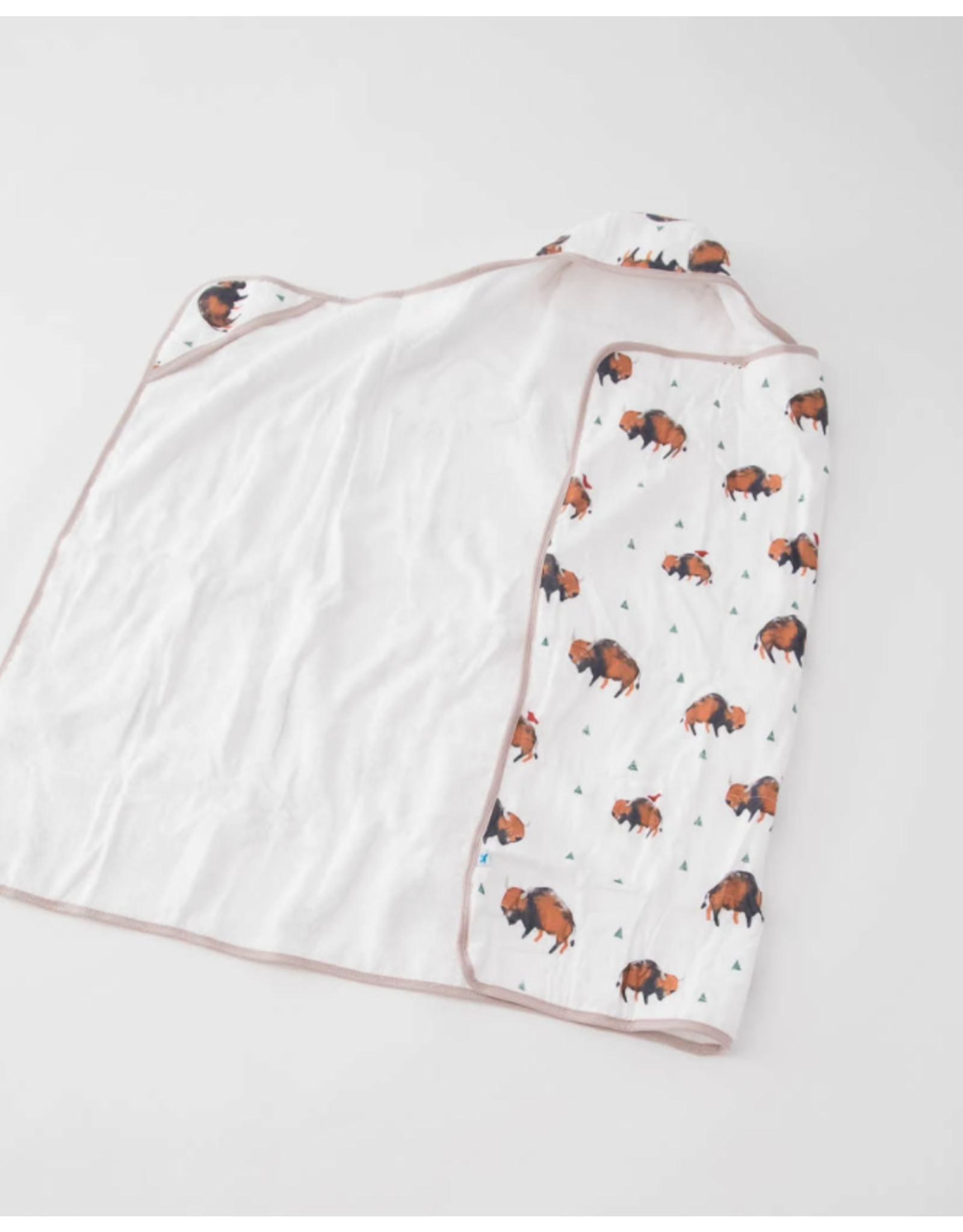 Little Unicorn, LLC Cotton Hooded Towel Big Kid, Bison