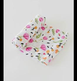 Little Unicorn, LLC Cotton Muslin Swaddle Single, Berry & Bloom
