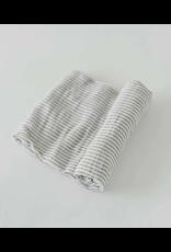 Little Unicorn, LLC Cotton Muslin Swaddle Single, Grey Stripe