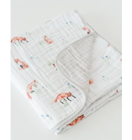 Little Unicorn, LLC Cotton Muslin Baby Quilt, Fox