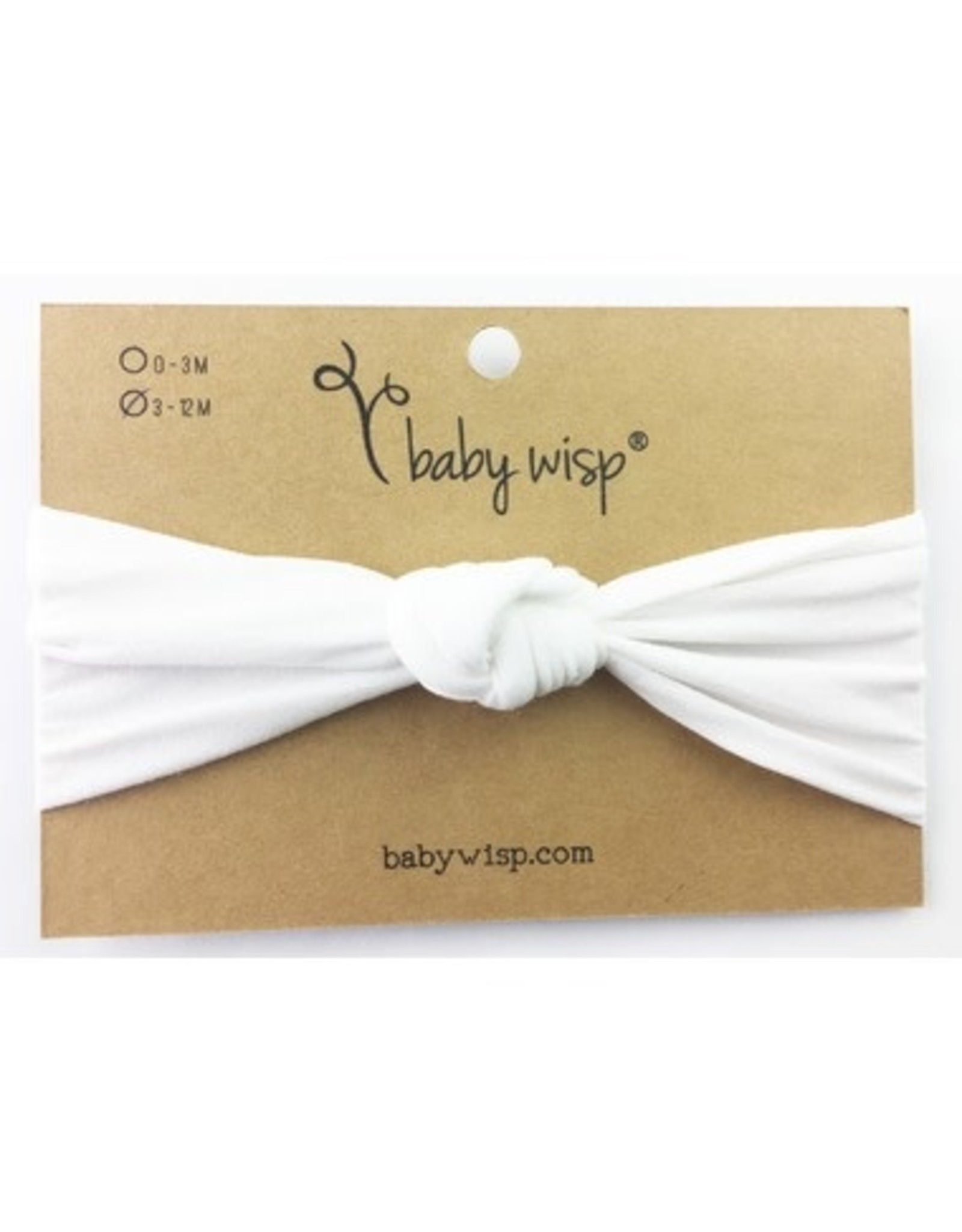 Baby Wisp Baby Wisp Turban Knot Headband, White