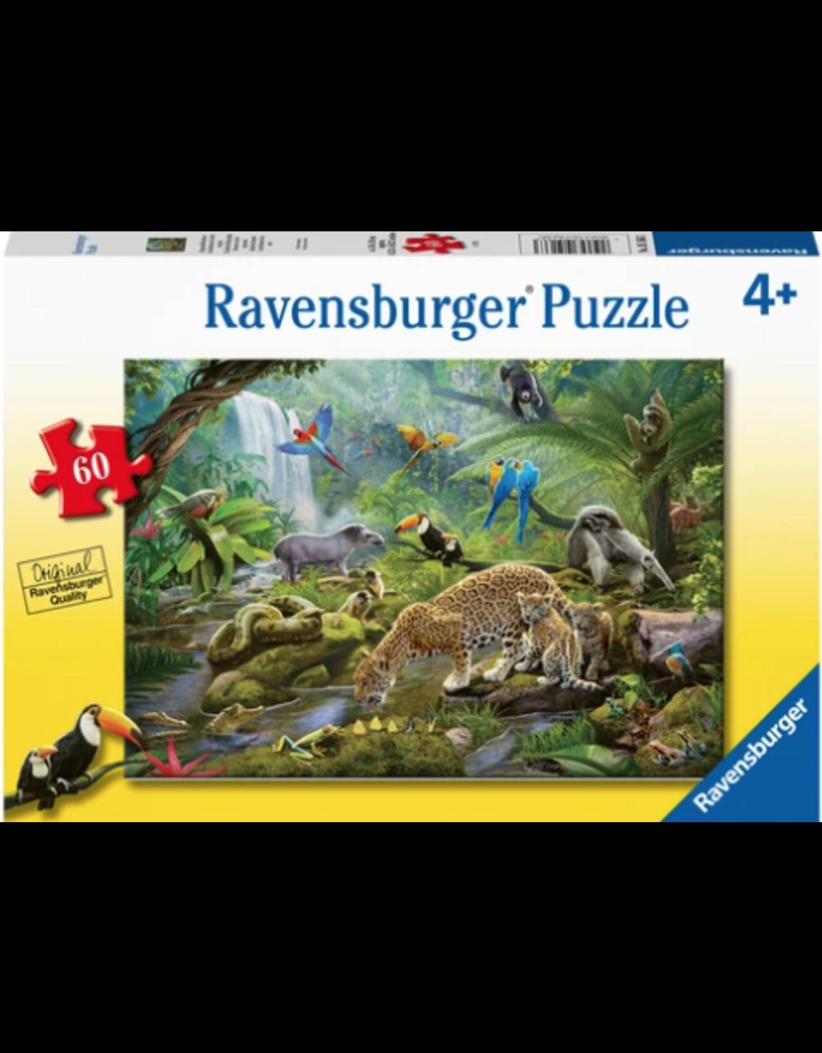 Ravensburger 60 pcs. Rainforest Animals Puzzle