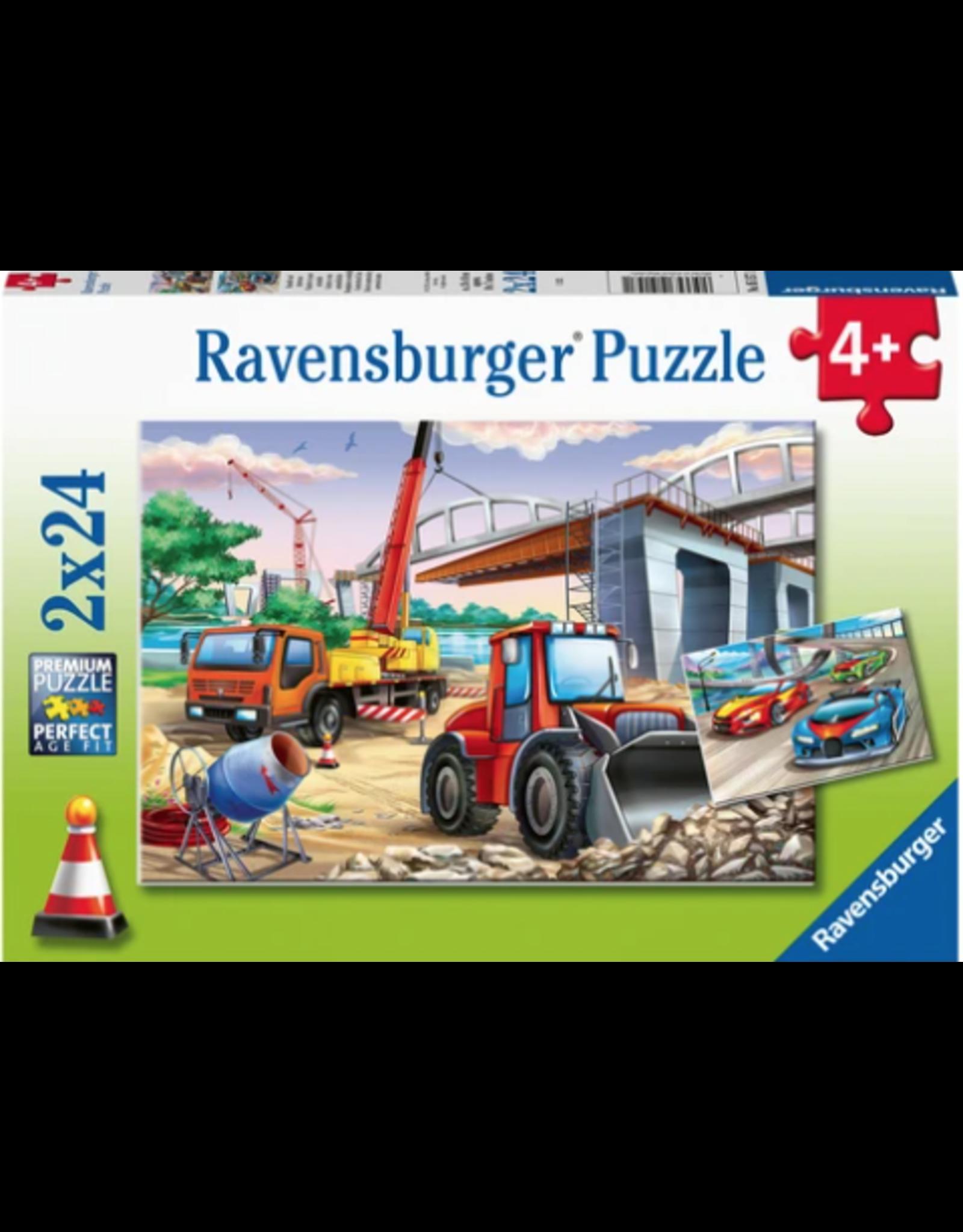 Ravensburger 2x24 pcs. Construction & Cars Puzzle