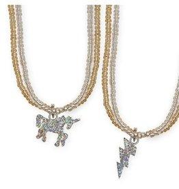 Great Pretenders Glitter Unicorn Lightning Necklace, Assorted