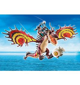 Playmobil Dragon Racing: Snotlout And Hookfang