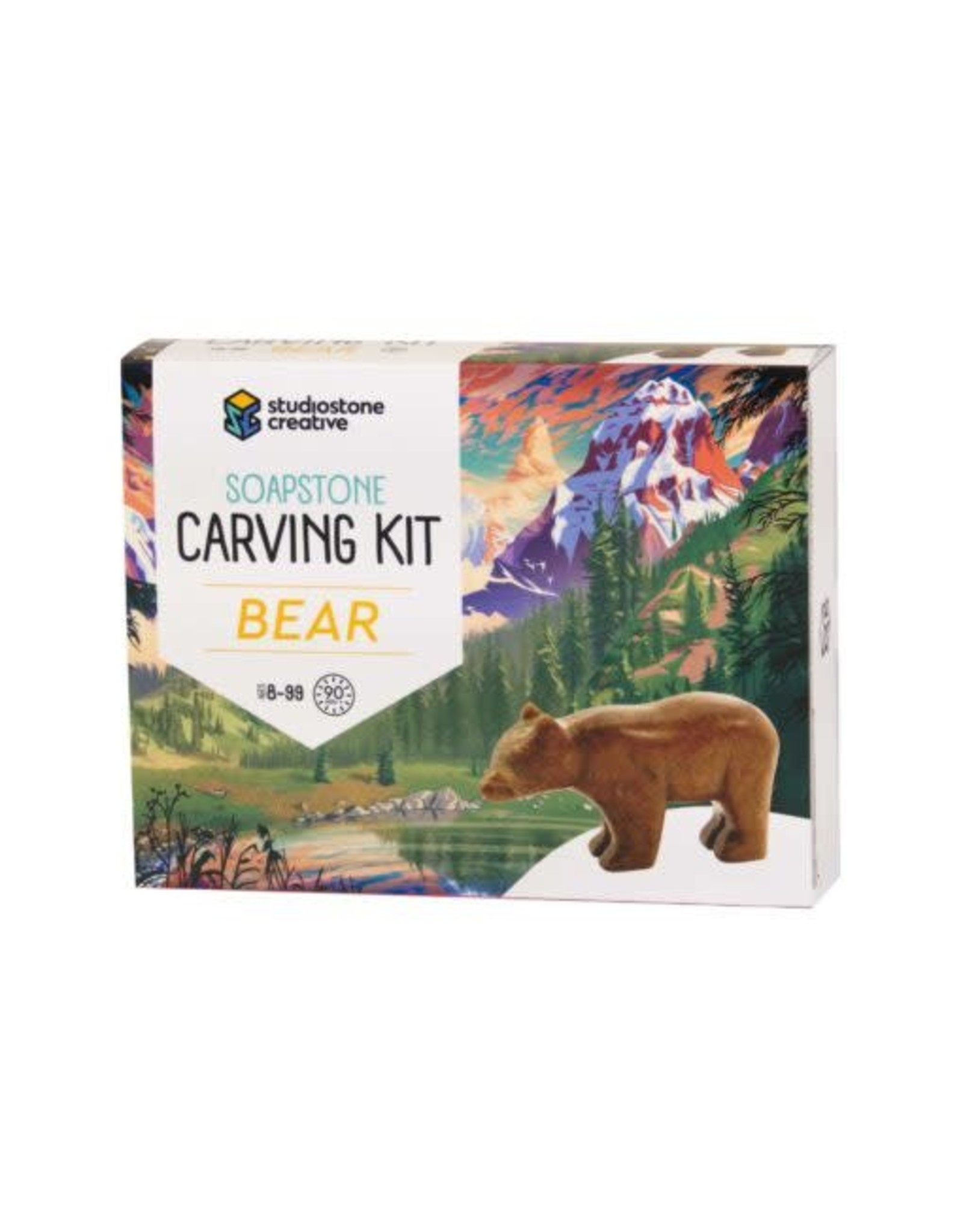 Studiostone Creative Bear Soapstone Carving Kit