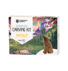 Studiostone Creative Wolf Soapstone Carving Kit