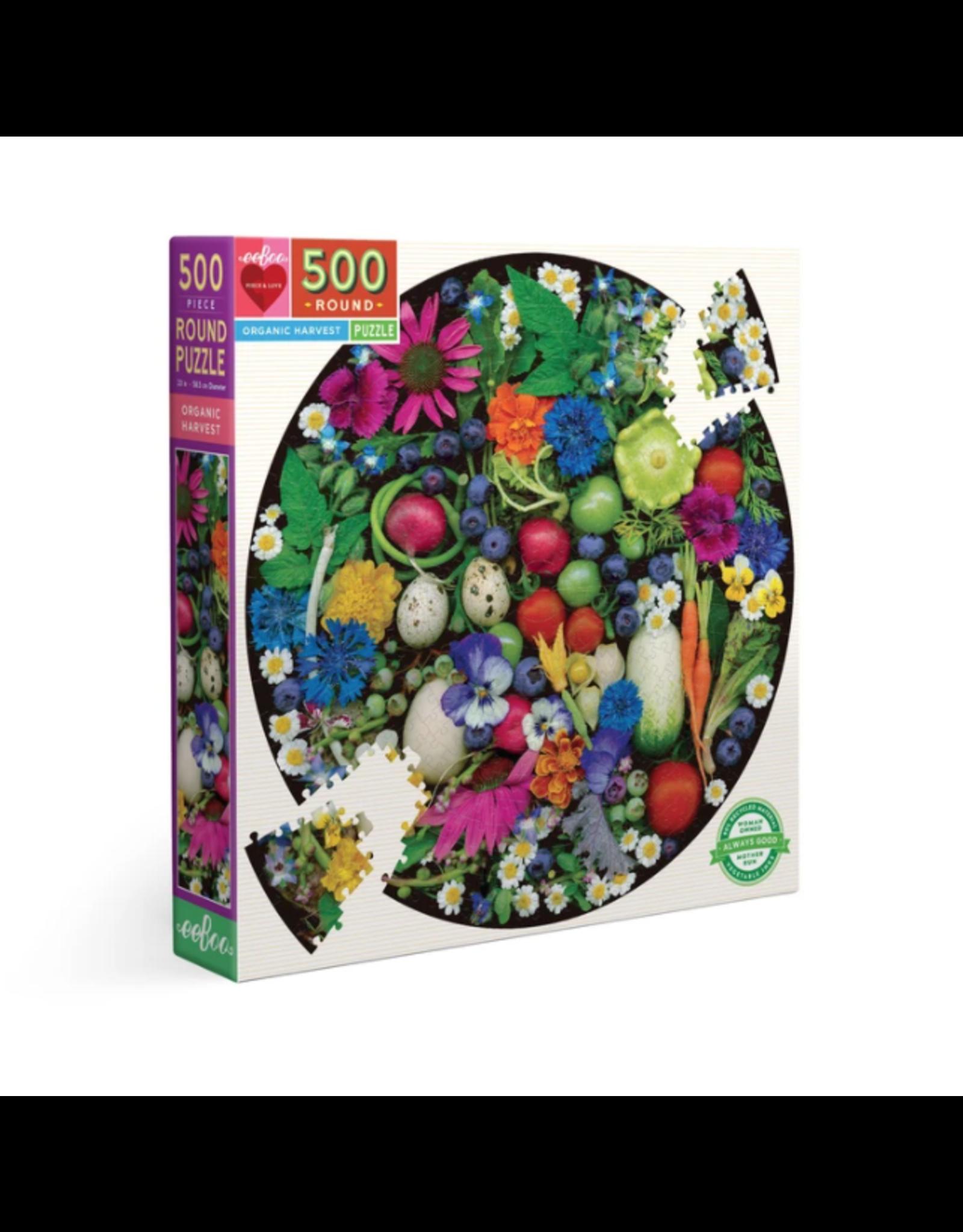 Eeboo 500 pcs. Organic Harvest Round Puzzle