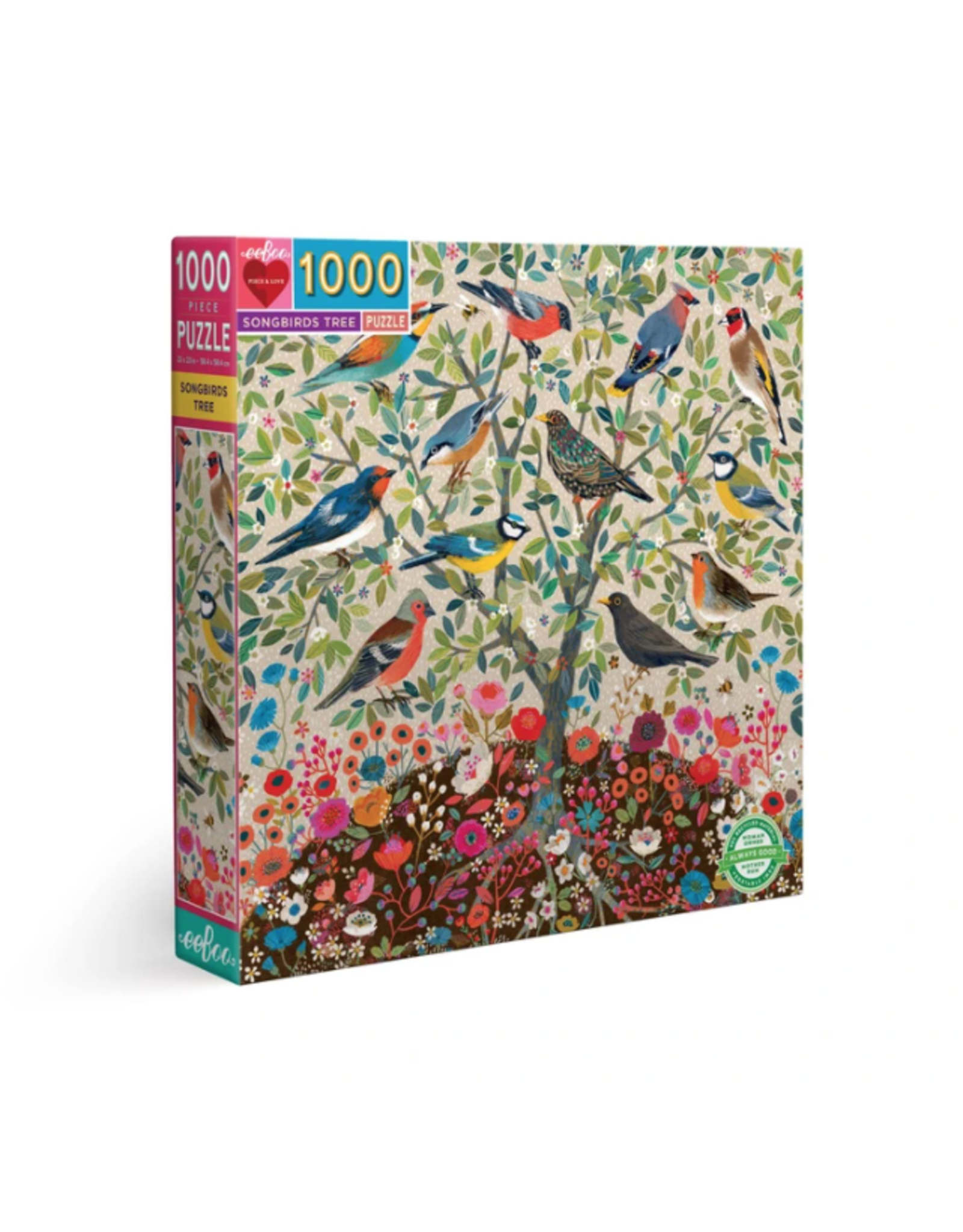 Eeboo 1000 pcs. Songbirds Tree Puzzle