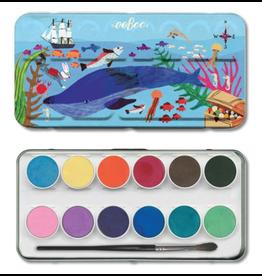 Eeboo 12 Watercolour Paints, In the Sea