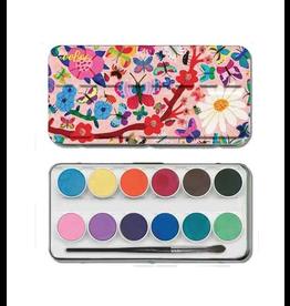 Eeboo 12 Watercolour Paints, Butterflies
