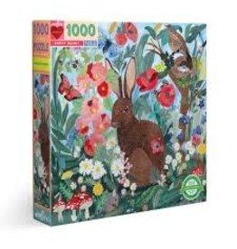 Eeboo 1000 Pcs. Poppy Bunny Puzzle