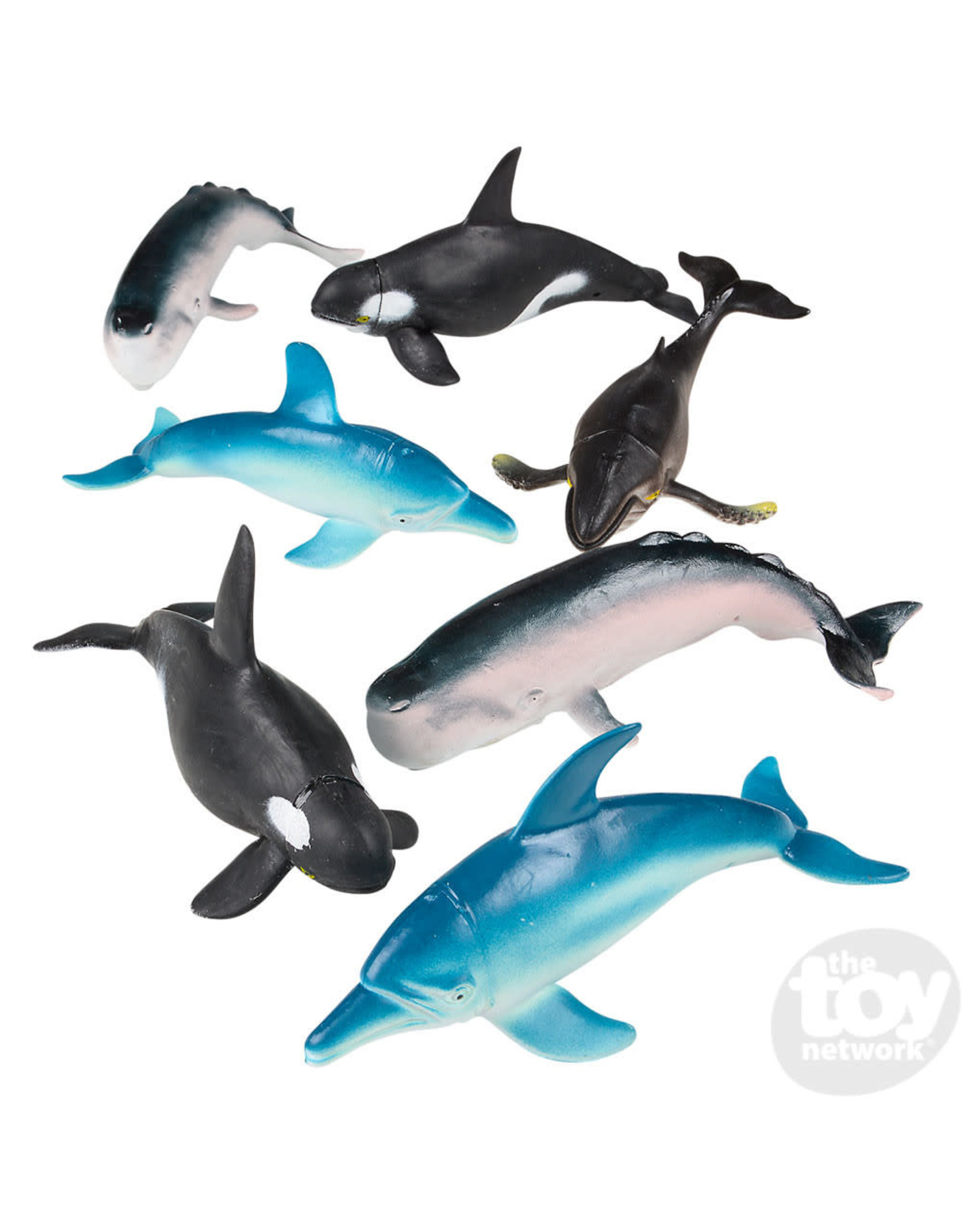 The Toy Network Whales and Dolphins, 7 pack
