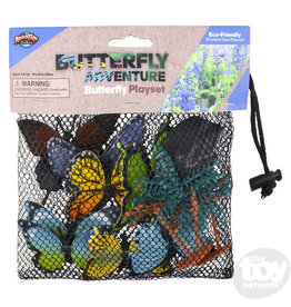 The Toy Network Butterfly Mesh Bag Play Set, 12 pack